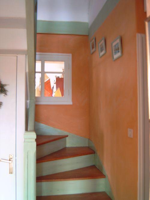 Réalisations Décoratives Escalier Peinture Vieillie Et